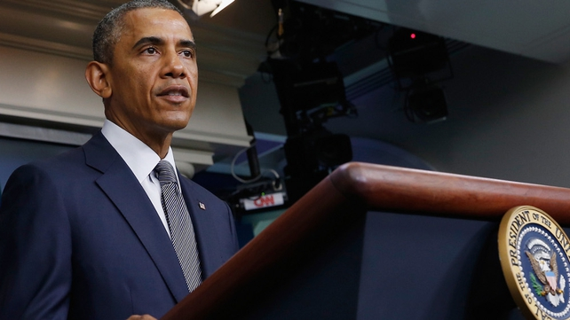 Barack Obama said pro-Russian rebels were getting a steady flow of weapons from Russia
