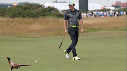 Rory McIlroy recorded a rather apt birdie on the eighth hole