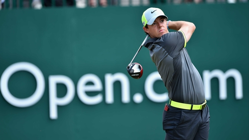 Rory McIlroy cut a purposeful figure at Royal Liverpool