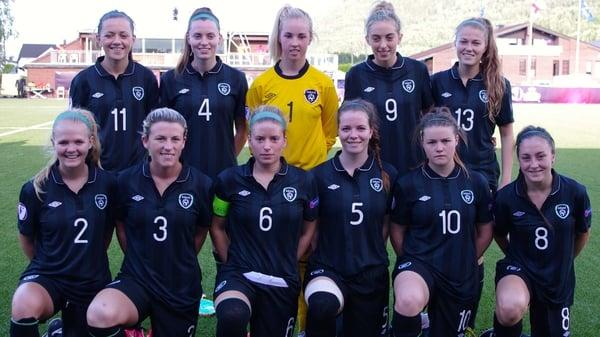 The victorious Irish U-19 team