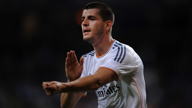 Alvaro Morata scored eight league goals for Real last season