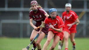 Cork's Eimear O'Sullivan and Aislinn Connolly of Galway clash during their senior championship clash