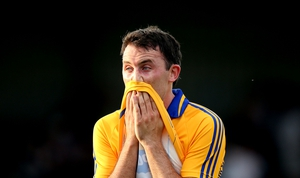 Clare's David Tubridy dejected after the game
