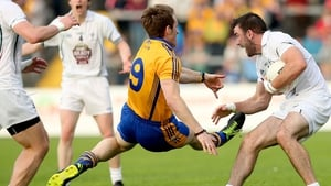 Clare's commitment was never in doubt against Kildare, none more so that Podge McMahon, here in action against Fergal Conway of Kildare