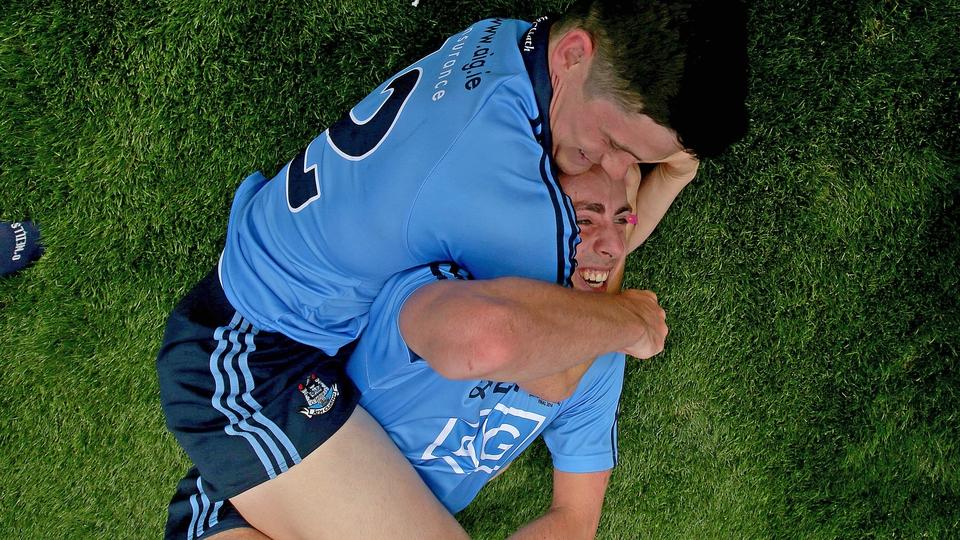 Dublin's Diarmuid Connolly and Cormac Costello celebrate