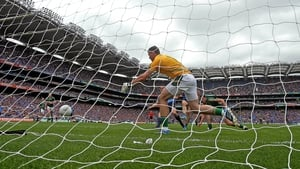 Meath goalkeeper Paddy O'Rourke was unable to to stop Dublin's first goal
