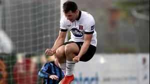 Patrick Hoban celebrates his goal