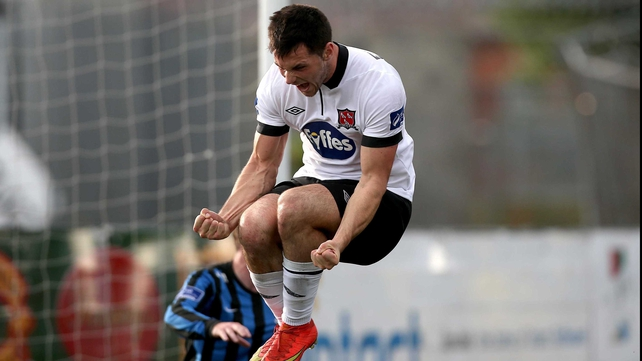 Patrick Hoban celebrates his goal