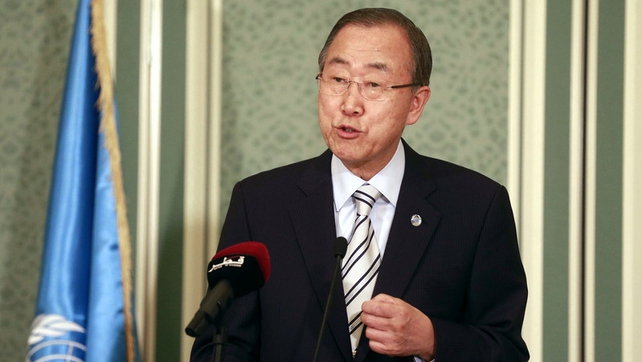 Ban Ki-moon is in the Middle East in a bid to help broker a ceasefire