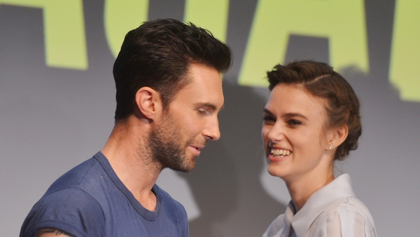 Adam Levine and Keira Knightley