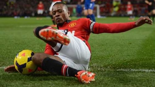 Patrice Evra played 273 games for Manchester United and scored eight goals