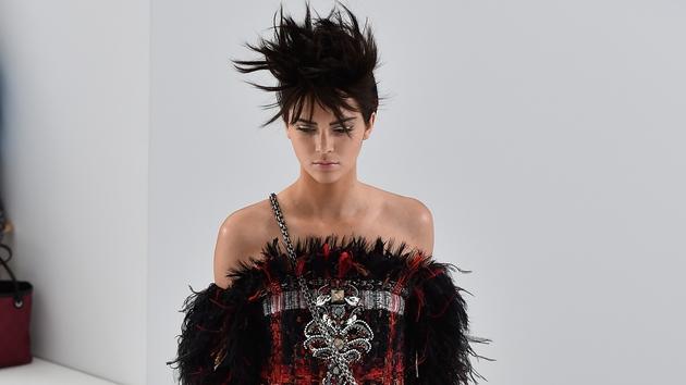 Kendal Jenner modelling for Chanel