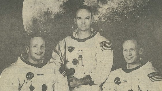 Armstrong, Aldrin and Collins, whose histroic moonflight was covered on RTÉ TV and Radio.
