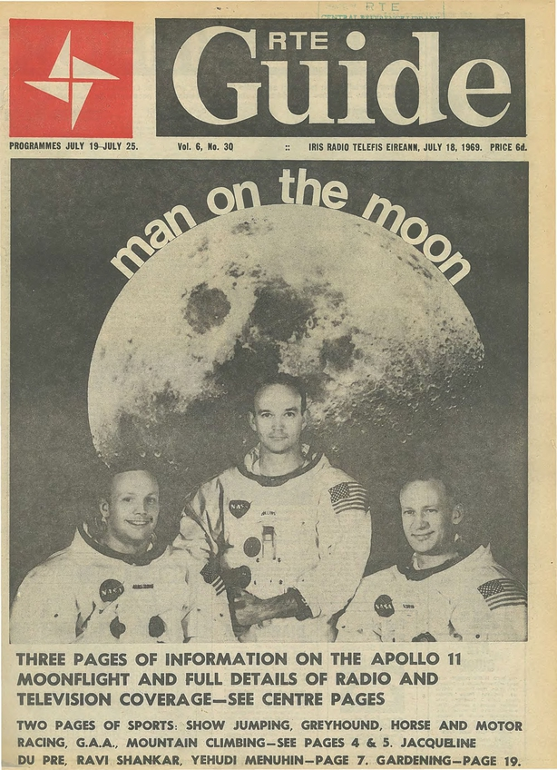 RTE Guide Cover Moon Landing 18 July 1969