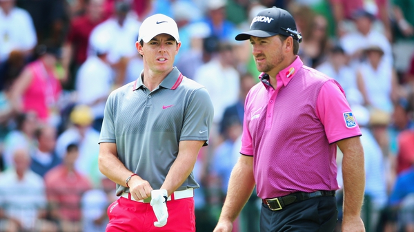 Rory McIlroy and Graeme McDowell at the US Open