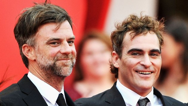 Director Anderson with his Inherent Vice star Joaquin Phoenix