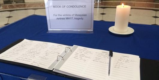 MH17 tribute in Dublin