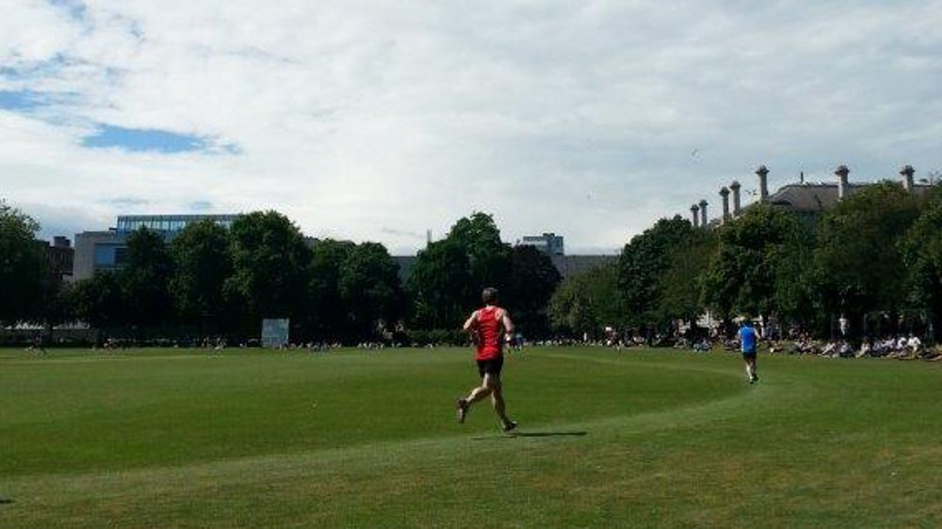 Sunshine races at Trinity College (Pic: Catriona Kennedy)