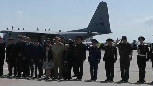 Remains of some MH17 victims transported to Netherlands