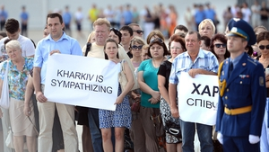 Local residents stand in solidarity with the families and victims of MH17