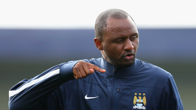 Patrick Vieira took his youth team off before half-time after the alleged incident