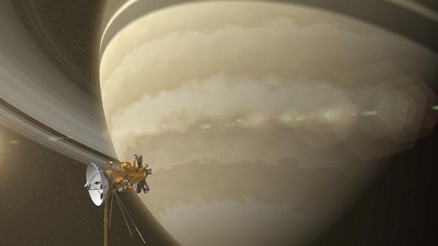 Ringing Saturn's bell (screengrab copyright: NASA)