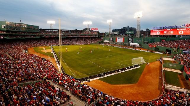 Fenway Park in Boston was the venue for Liverpool v Roma