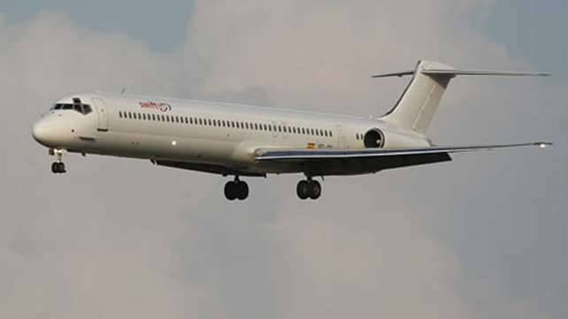 Undated handout photograph made available by Swiftair showing the McDonnell Douglas MD-83