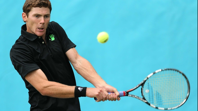 Sam Barry meets Britian's Joshua Milton in the semi-finals at Fitzwilliam LTC