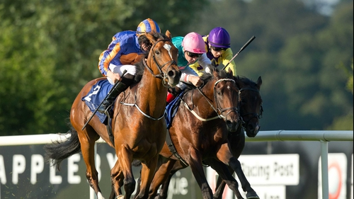 Gleneagles got the better of Tombelaine and Convergence in the Tyros Stakes