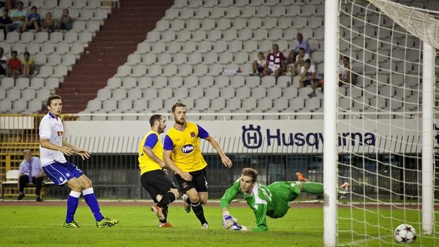 Kurtis Byrne scores Dundalk's winner at Stadion Poljud