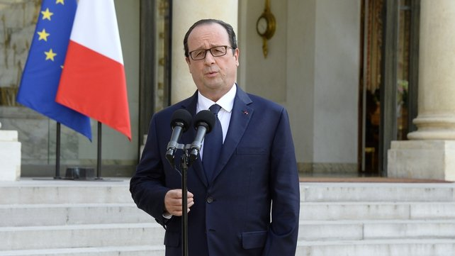 President Francois Hollande vows to continue with French economic reforms