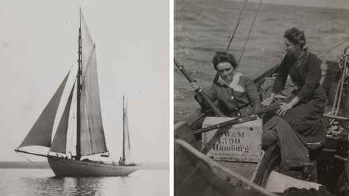 The Asgard, and Molly Childers and Mary Spring Rice (Pics courtesy of The Board of Trinity College Dublin)