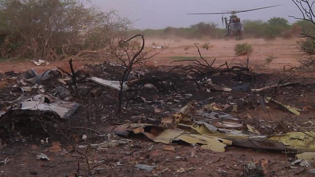 Crash investigators say the plane broke apart on impact