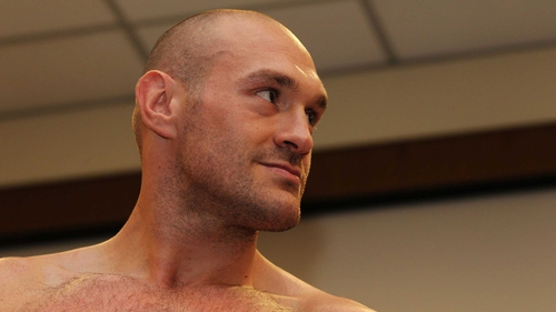 Tyson Fury at the weigh-in for the fight that will not now happen