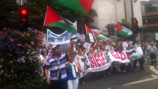Protests take place across Ireland in solidarity with Palestinians