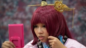 A cosplayer makes up during the Ani-Com and Games show in Hong Kong, China Pic: courtesy of EPA