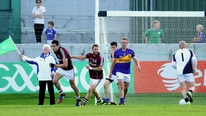 Galway manager Alan Mulholland was disappointed with the way his side conceded goals in the closing stages of their win over Tipperary