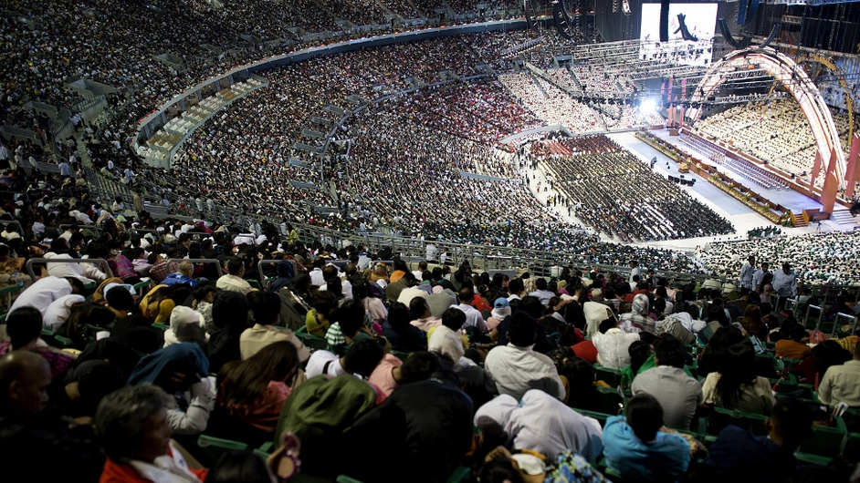 Thousands of members of Iglesia ni Cristo gather  for 100th anniversary in Bocaue, Bulacan, north of Manila
