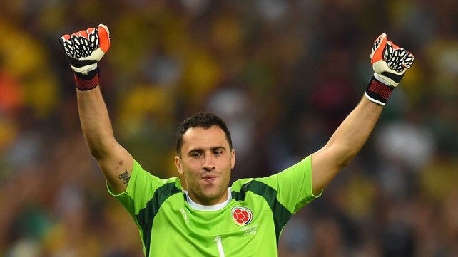 David Ospina impressed during Colombia's World Cup performances
