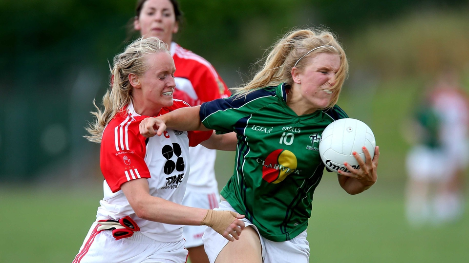 Kildare's Maria Moolick and Tori McLaughlin of Tyrone