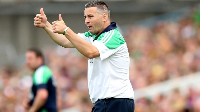 Thumbs up from TJ - the Limerick boss has agreed to remain at the helm for another three years