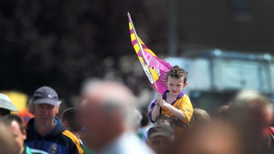 Wexford supporter Darragh Ryan on his way to the Limerick match. A tough day for him and Wexford