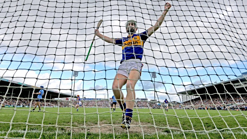 Tipperary's Shane Bourke celebrates after John O'Dwyer scored his side's opening goal