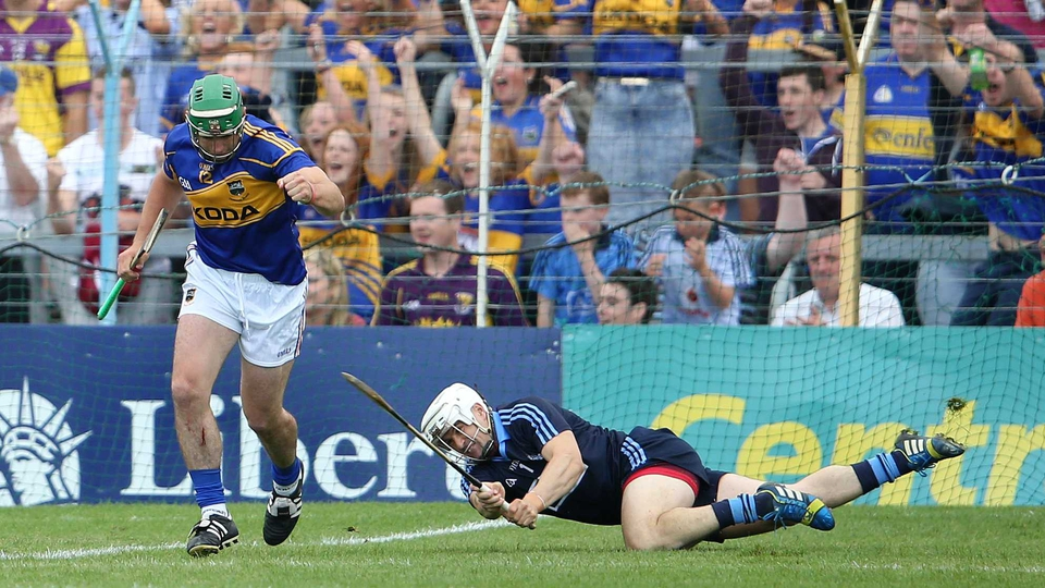 Tipperary's John O'Dwyer celebrates after scoring a goal