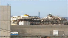 Wreck of Costa Concordia arrives in Genoa