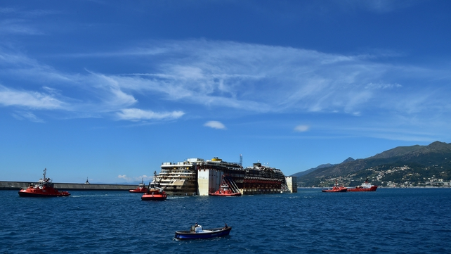 The salvaging of the Costa Concordia was one of the largest and most complex ever attempted
