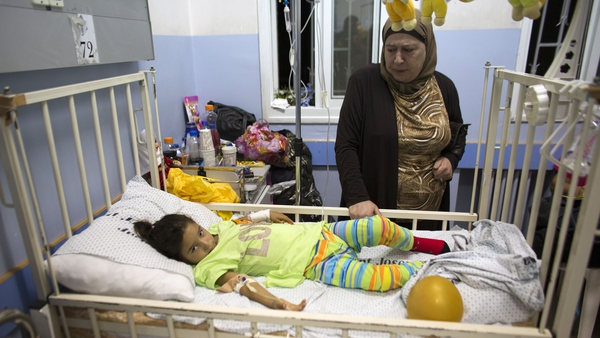 Shaymaa Masri, a four-year-old Palestinian girl, was injured in the shelling of Beit Hanun