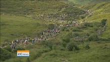 Thousands climb Croagh Patrick