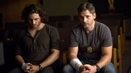 Édgar Ramírez and Eric Bana star as the exorcising priest and haunted cop in Deliver Us from Evil